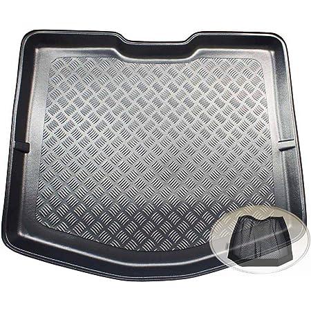Zentimex Z3333013 Geriffelte Kofferraumwanne Fahrzeugspezifisch Klett Organizer Laderaumwanne Kofferraummatte Auto