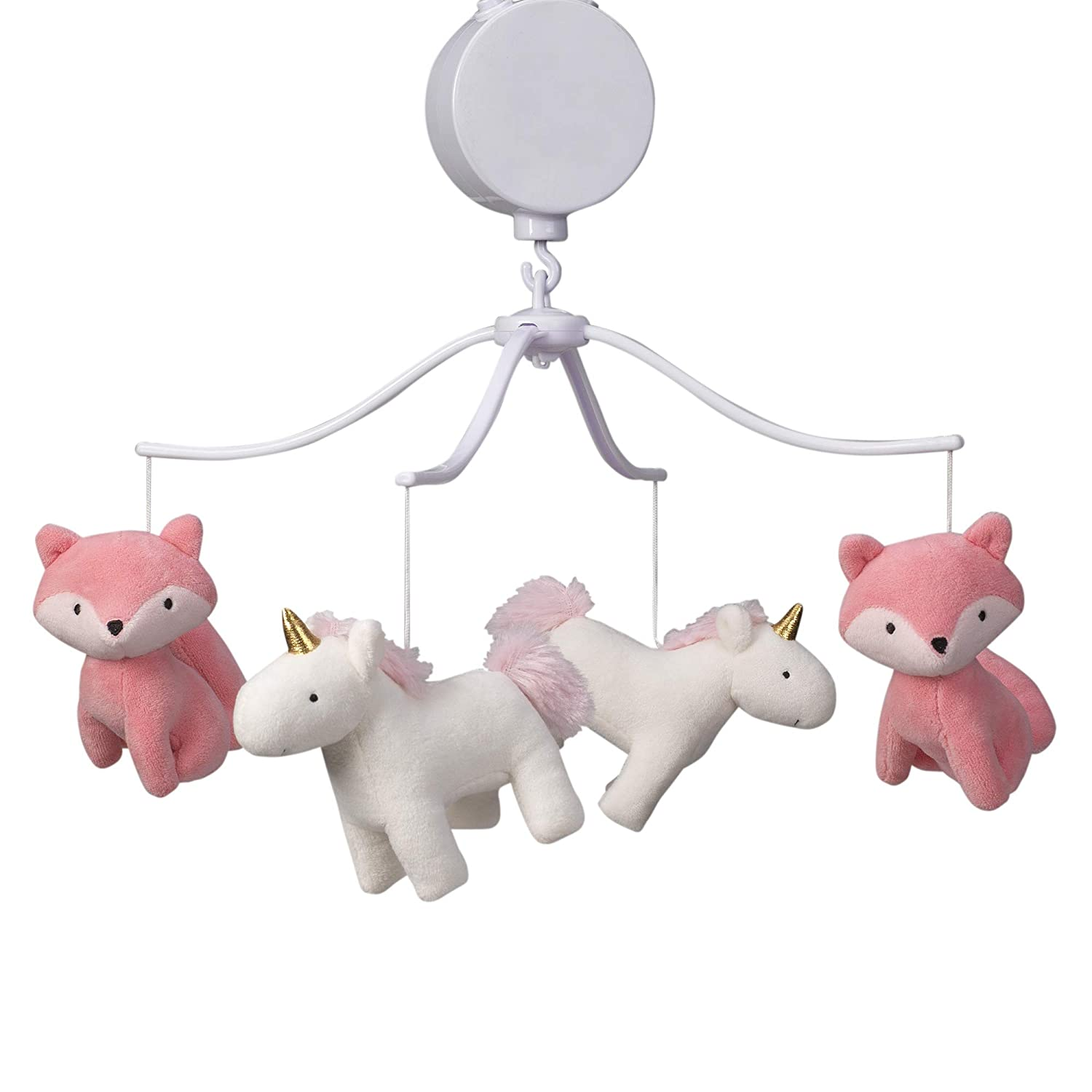 Bedtime Originals Rainbow OFFicial 5% OFF shop Unicorn Musical Crib Mobile Baby Pink