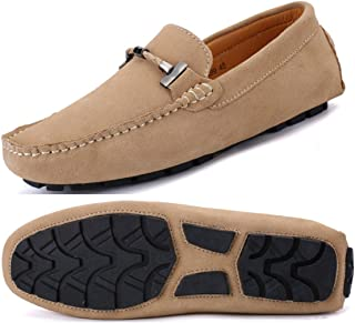 Men's Penny Loafers Moccasin Driving Shoes Slip On Flats Boat Shoes