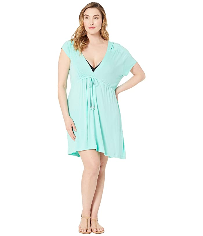 DOTTI Plus Size Paradise Solids Dress Cover-Up (Mermaid) Women