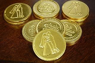 500pcs - Belgian Milk Wedding Favor Chocolate Coins