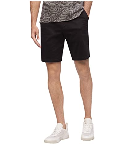Calvin Klein Refined Stretch Chino Shorts (Black) Men