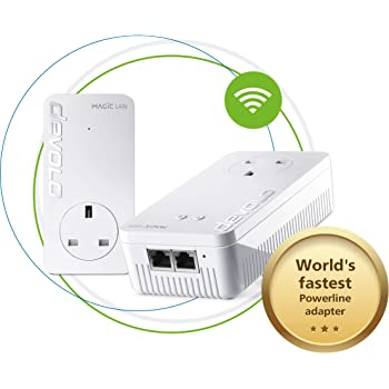 Devolo Magic 2-2400 Wi-Fi Ac Starter Kit: Stable Home Working, Ultimate Powerline Kit, Mesh Wi-Fi, Up to 2400 Mbps Via Powerline, Wi-Fi Ac, Wi-Fi Anywhere, Access Point, 2x Gb Ports, 4k/8k Streaming