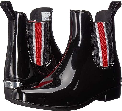 Black Shiny PVC/Stripe