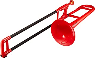 pBone PBONE2R Jiggs Mini Plastic Trombone for Beginners, Red