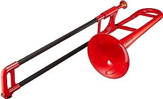 pBone PBONE2R Jiggs Mini Plastic Trombone for Beginners, Red