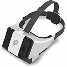 New V2.0 Version FXT Viper FPV Goggles 5.8GHz Video Glasses Support Wearing Glasses, Detachable 5inch Monitor for Drone Quadcopter