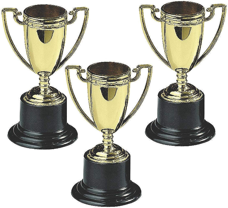 Fun Express Plastic goldtone Trophies (1 Per Package)