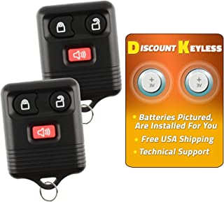 Discount Keyless Replacement Keyless Entry Car Remote Control Key Fob Compatible with Ford Lincoln Mercury (2 Pack)
