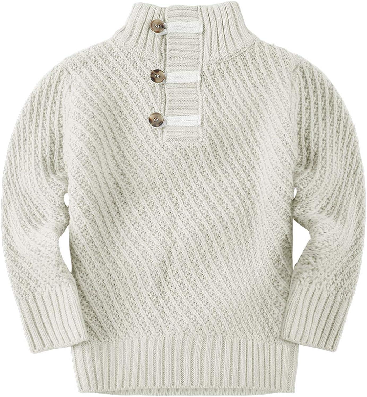 Runcati Baby Kids Boys Girls Sweaters Turtleneck Cable Knit Pullover Long Sleeve Casual Soft Fall Winter Warm Sweatshirt