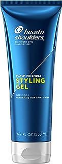 Head & Shoulders Anti-Dandruff Styling Hair Gel for Men, High Hold, Light Finish, 6.76 Fl Oz