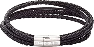 Cobra Italian Leather Multi Strand Bracelet
