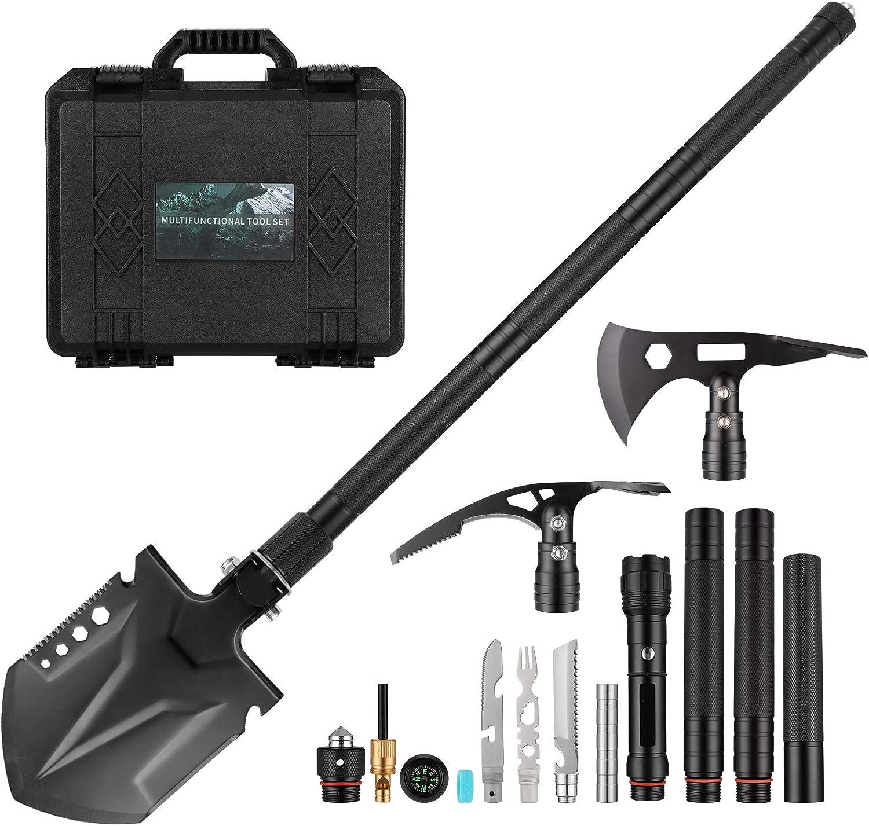 Survival Shovel Axe High material Set Tactical Pickax Military Hatchet 5% OFF