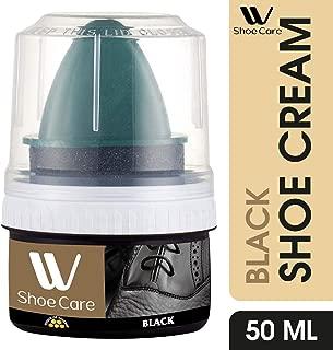 W Shoe Care Instant Shine Black Shoe Cream Polish, 50ml