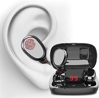(2021 Nuevo modelo)Los nuevos audífonos bluetooth de Cheelom, audífonos para juegos de entretenimiento, IPX8 Impermeable y Reduce el Ruido CVC8.0, mini audífonos deportivos con interfaz con micrófono, se pueden usar para correr, escuchar música, hablar por teléfono, ver videos (Garantía de un año)