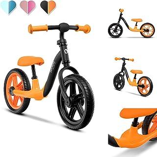 Lionelo Alex balanscykel barncykel upp till 30 kg sadel och styre justerbar 30 cm Eva skumhjul robust konstruktion slagbeg...
