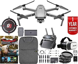 DJI Mavic 2 Zoom Quadcopter Drone with 2X Optical Zoom 24-48mm Lens Bundle with Drone Software, 32GB Memory Card, Landing Pad,Filter Kit, 1 Year Extended Warranty and Accessories (2 Items)