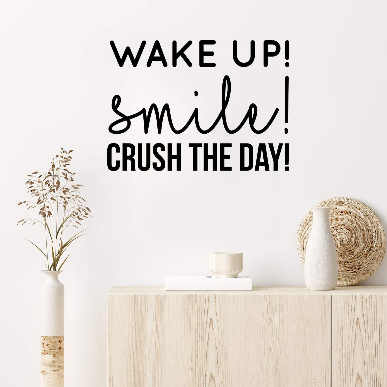 Vinyl Wall Art Decal Ranking TOP4 - Wake up x Overseas parallel import regular item Day The 22 Crush 16