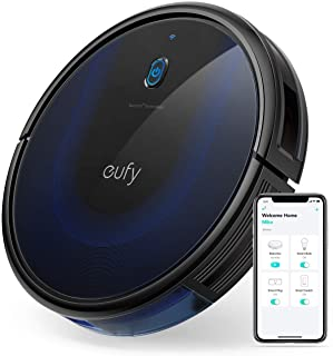 eufy BoostIQ RoboVac 15C MAX, Wi-Fi Connected, Super-Thin, 2000Pa Suction, Quiet, Self-Charging Robotic Vacuum Cleaner, Cleans Hard Floors to Medium-Pile Carpets, Black (Renewed)