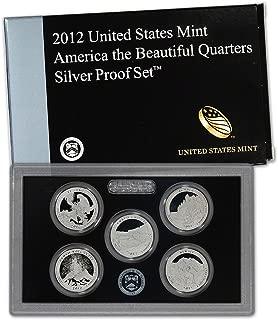 2012 S US Mint Quarters Silver Proof Set