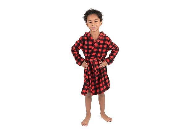 Leveret Kids Robe Boys Hooded Fleece Sleep Robe Bathrobe (2 Toddler-14  Years) Variety of Colors 2338afc00