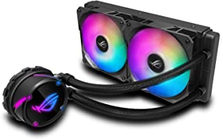 ASUS ROG Strix LC 240 RGB all-in-one liquid CPU cooler with Aura Sync, and dual ROG 120mm addressable RGB radiator fans