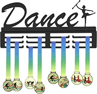 GENOVESE Medal Hanger for Dance,Dancing Medals Display Rack,Trophies Hangers for Dancer,Black Metal Sport Holder