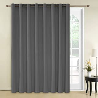 Deconovo Thermal Insulated Blackout Curtains 1 Panel Wide Width Curtain Grommet Room Darkening Blind Window Curtain for Kids Room 100x95 Inch Light Grey 1 Panel