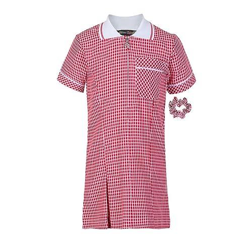 671faf0edad Miss Chief Girl s School Gingham Summer Dress Age 3 4 5 6 7 8 9 10