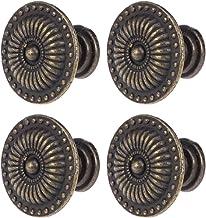 Winomo Vintage kast lade kast pull-greep knop 4 stuks (brons)