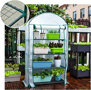Greenhouse Small Greenhouse Box Plant Greenhouse Four-layer Flower Stand Dust-proof Rain Cloth Tomato Greenhouse (Color : ...