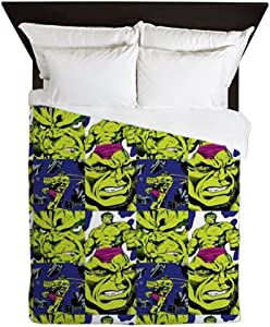 CafePress Hulk Angry Queen Duvet Cover, Printed Comforter Cover, Unique Bedding, Microfiber
