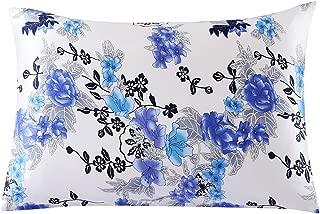 SLPBABY Silk Pillowcase for Hair and Skin with Hidden Zipper Print (Standard(20''x26''), Pattern 21)