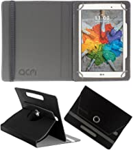 Acm Rotating 360 Leather Flip Case Compatible with Lg G Pad X 8.0 Tablet Cover Stand Black
