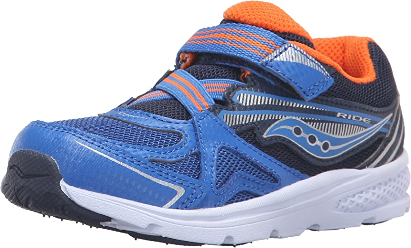 Saucony garçons'   Ride paniers (Toddler Peu Enfant), bleu Orange, 5 W US Toddler