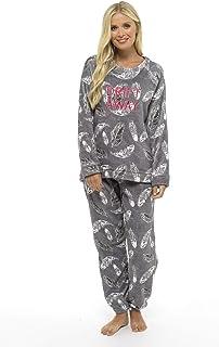 comprar comparacion Pijama Mujer Invierno Suave Cómodo con Plumas Prosecco Estrellas Vario Estilos Pijamas Invernal Regalo para Ella