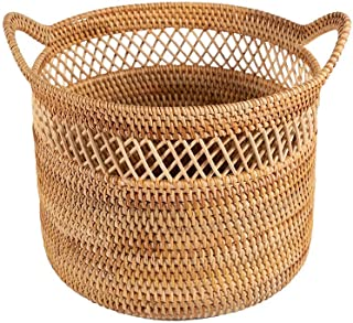 Panier à linge XINYALAMP Grand rotin tissé Panier en Osier avec poignée, Menage Linge Panier ou décoratif Panier Usine