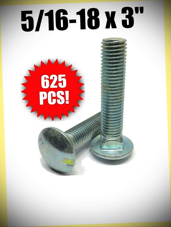 Package New life of 625 pcs 5 16-18 x Zinc Bolt A307 3