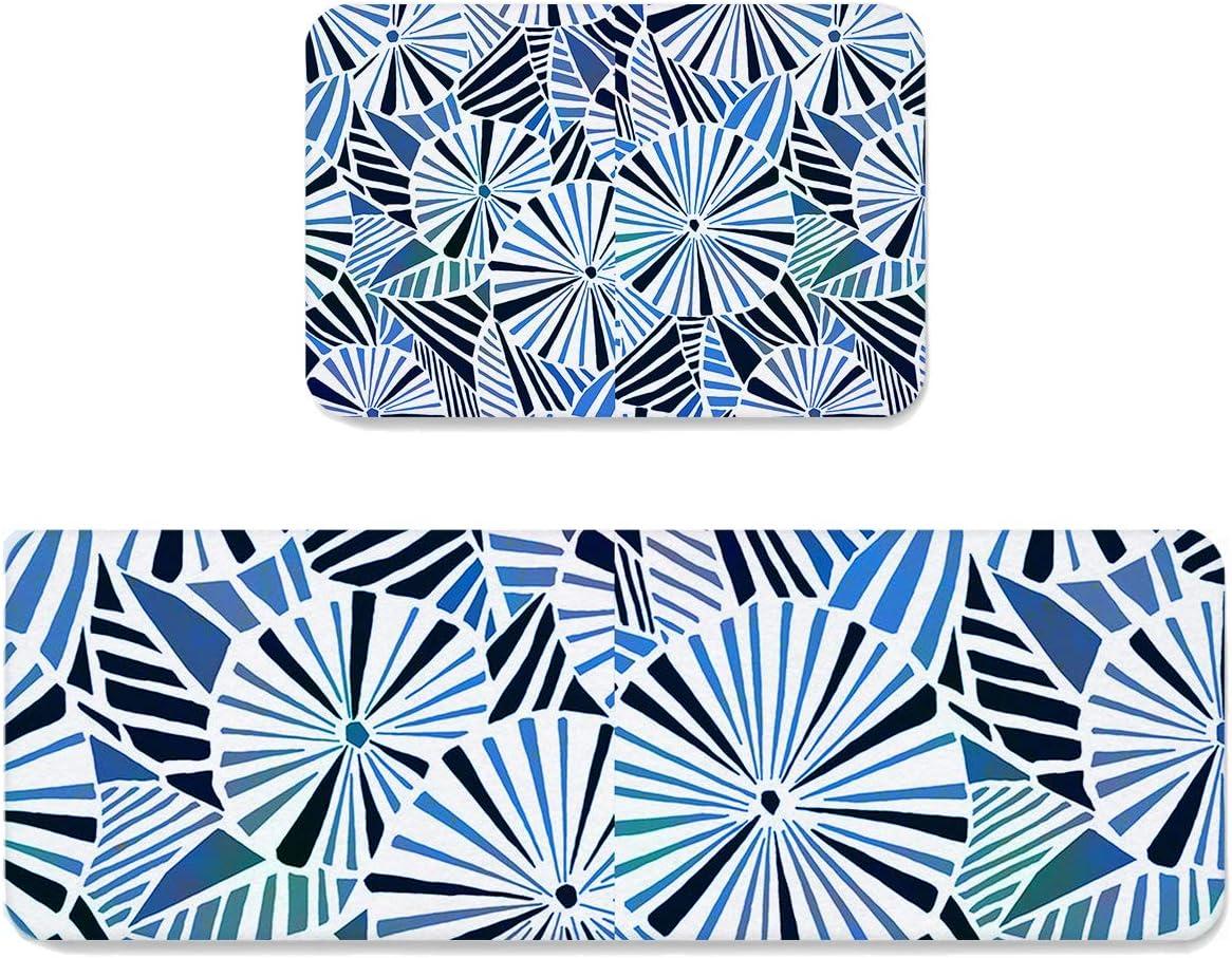 Infinidesign Geometric 5 popular Striped Kitchen Rug Sli 2 Elegant Non Piece Sets