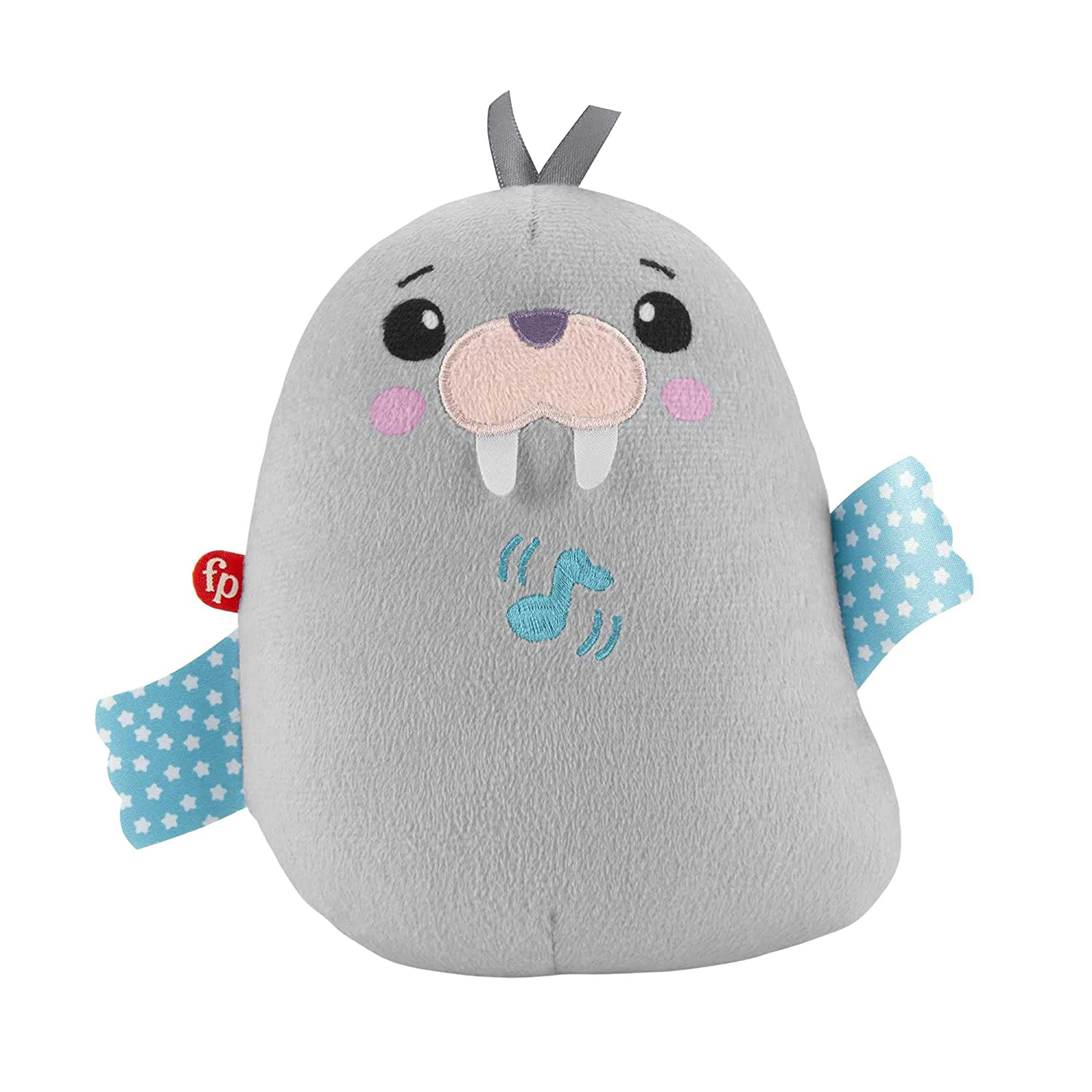 Fisher-Price Chill Vibes Walrus Soother, Take-Along Musical Plush Toy with Calming Vibrations for Infants, Multi