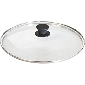 Lodge Tempered Glass Lid (12 Inch) – Fits Lodge 12 Inch Cast Iron Skillets and 7 Quart Dutch Ovens