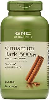 GNC Herbal Plus Cinnamon Bark 500mg, 200 Capsules, Traditional Ayurvedic Herb