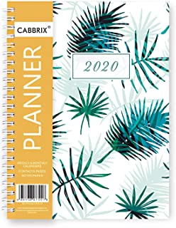 2020 Planner, Weekly Monthly A5 Daily Calendar Organizer Time Management, 12 Monthly Tabs, 5.8 x 8.3 Inches