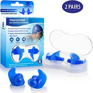 Hearprotek Swimming Ear Plugs, 2 Pairs Waterproof...
