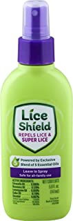 Lice Shield Leave in Spray, 5 Fl Oz Bottle, Lice Repellent Conditioning Spray with Essential Oils for Repelling Lice and Super Lice