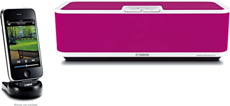 $49 » Yamaha PDX-60PI Speaker Dock for iPod and iPhone, 1 Each (Pink) (Renewed)