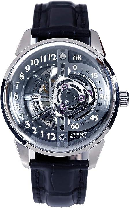 Orologio behrens da polso da uomo impermeabile sportivo rotativo b022gry