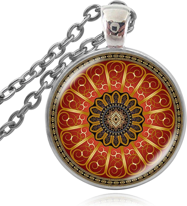 Mandala Botanical Pendant 25% OFF Necklace Picture Vintage Flower Geomet unisex