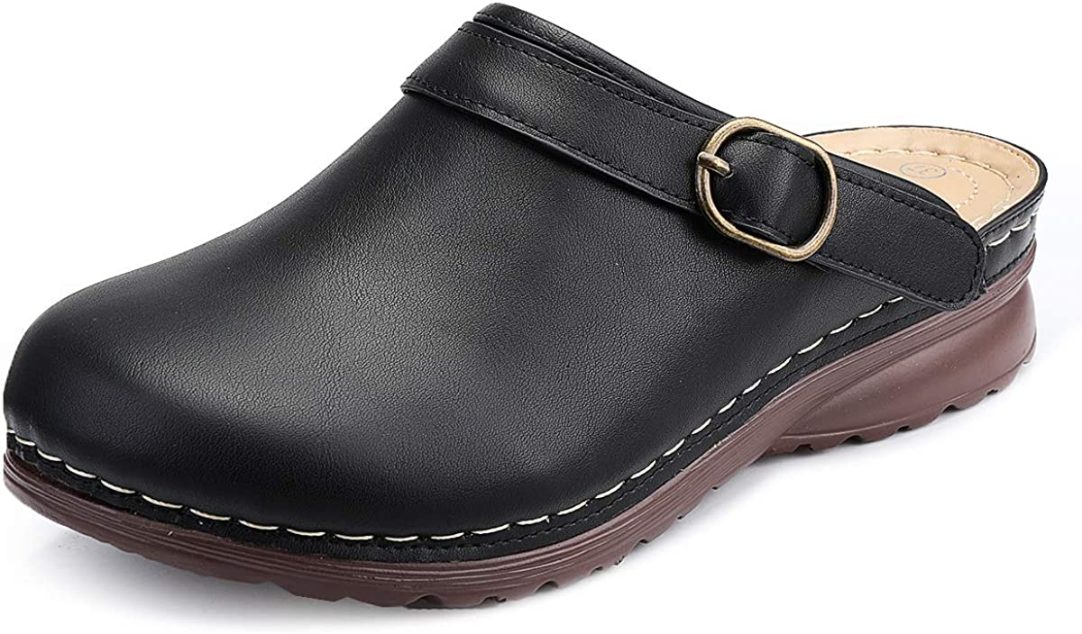 gracosy Clogs Shoes for Max 55% OFF Women Slippers W Leather Credence Summer Comfort