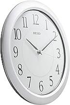 ساعة حائط من سيكو (31 سم × 31 سم × 4 سم، فضي، QXA352SN)